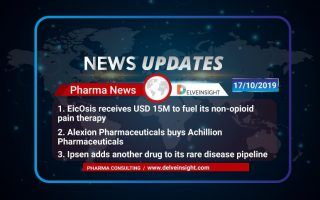EicOsis receives USD 15M to fuel its non-opioid pain therapy; Alexion Pharmaceuticals buys Achillion Pharmaceuticals; Ipsen adds another drug to its rare disease pipeline